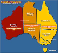 Time Map Time Zones Map For Australia