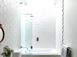 hexagonal tiles on a bathroom wall hexagon tile canada design detail