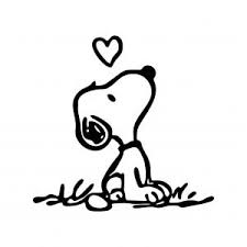 snoopy love graphics svg dxf eps png cdr