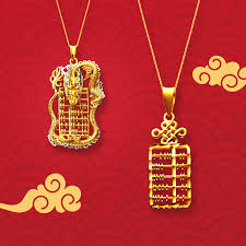 bless your friends and family with prosperity and good fortune by gifting them the abacus and dragon abacus pendants in 916 gold a symbol of wealth