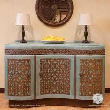 design studios furniture. Faux Carved Wood And Patina Effect - Mansion House Grille Trellis Furniture Stencils Royal Design Studios
