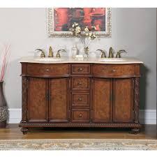 bathroom vanity 60 inch: home gt  inch double sink bathroom vanity with travertine middot loading zoom