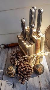 diy projects made with old books turn old books into a knife block make