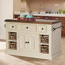 luxury white kitchen island with granite top amazon com large in country finish seating butcher block stool stainless steel black wood dark cabinet marble kitchen island with seating butcher block b56 kitchen