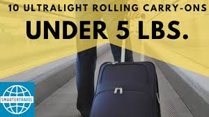 Wt Ultra Light Carry On 10 Ultralight Rolling Carry On Bags Under 6 Pounds