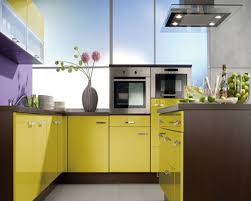 Yellow Kitchen Theme Colorful Kitchen Design Ideas With Cream Cabinet And Classic Theme