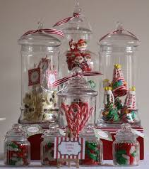 Christmas/holiday Party Ideas  Use Glass Apothecary Jars As Decoration.  Fill Them With Candy, Cookies, Pine Cones Or Glass Bulbs.