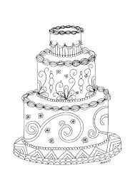 Printable Birthday Cake Printable Birthday Cake Coloring Page Free