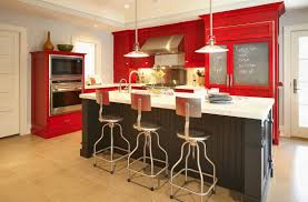 Kitchen Cabinet Color Schemes Kitchen Incredible Red Painted Kitchen Cabinets Design