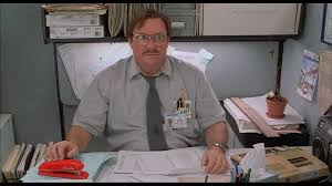 office spaxe.  spaxe office space  stephen root as milton on spaxe s