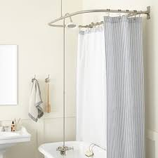 clawfoot tub shower conversion kit d style shower ring brushed nickel porcelain head