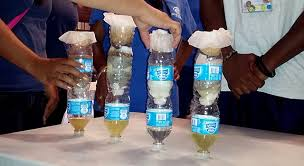 homemade water filter bottle. An Example Of Student-built Water Filtration Devices, Varying In Their Efficacy. Image Credit: NASA/JPL-Caltech Homemade Filter Bottle O