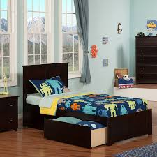 Atlantic Furniture Madison Espresso Twin Xl Platform Bed With ...