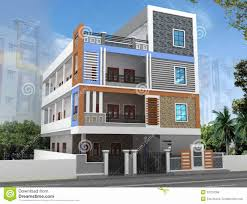 ... 3 Bedroom House Plans In Hyderabad Luxury 3d Building Elevation Stock  Photo Image Of Industry ...