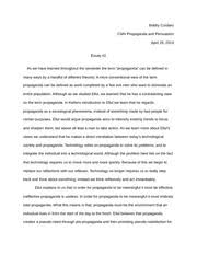 cmn propaganda and persuasion university of new 3 pages propaganda and persuasion essay on ellul and total propaganda
