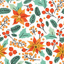 Christmas Seamless Pattern With Flower ...