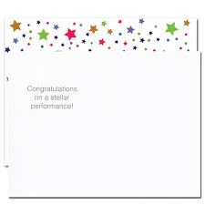Words For Congratulations Postcards Congratulations Stellar Performance Box Of 50 Postcards