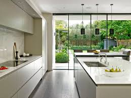 Garden To Kitchen Sleek Minimalist Modern Kitchen Design In Wandsworth With Handle