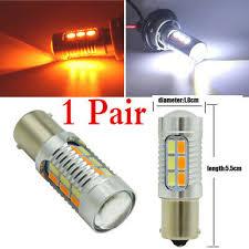 <b>2 Pc 1156</b> P21W <b>BA15S</b> LED White /Amber Conversion Turn ...