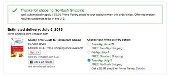 amazon free no rush shipping