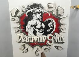 s artist bodybuilder diamond gym graffiti gym graffiti gym mural maplewood new jersey nj trainer