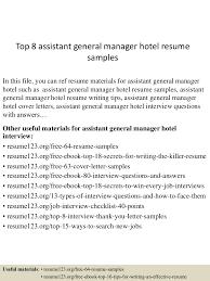 Top8assistantgeneralmanagerhotelresumesamples 150601102117 Lva1 App6892 Thumbnail 4 Jpg Cb 1433154125