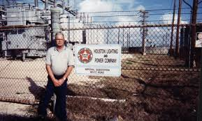 this is a photo of louis standing in front of the modernized substation in 1997 almost 50 years after the previous photo