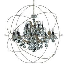 foucault iron orb chandelier large orb crystal chandelier from restoration small chandeliers for low ceilings