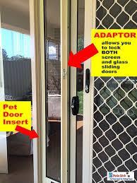 patiolink sliding door pet door panel insert flap includes locking bracket for doors up to 2 1m