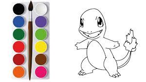 Vẽ Tranh và Tô Màu Pokemon Charmander Pikachu, Drawing Coloring Pokemon  Charmander Pikachu Kids - YouTube