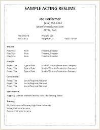 Talent Resume Template Cool Talent Resume Template Acting Resume Template Luxury 28 Best Best