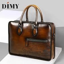 men039s business briefcase genuine leather luxury handmade calfskin shoulder bag italian designer doent file laptop bag malaysia senarai harga 2019