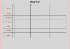 Images Blank Chore Chart Template World Of Printable And 2018