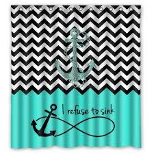 Fine Chevron Shower Curtains F Throughout Models Design