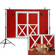<b>Allenjoy</b> 7x5ft Old Red Barn Door <b>Photography Backdrop Autumn</b> ...
