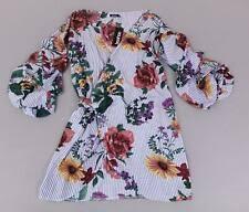 3 4 Sleeve Floral Plus Size Wrap Dresses Ebay