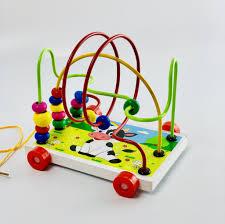 Xe xâu chuỗi luồn hạt gỗ, đồ chơi an toàn cho bé giúp trẻ kích thích giác  quan hỗ trợ phát triển trí tuệ bằng đồ chơi thông minh - Mô hình
