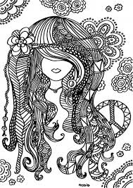 Trippy Girl Coloring Pages