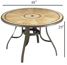 grosfillex louisiana 48 round bronze mist commercial outdoor metal pedestal table with umbrella hole table sold complete call for special