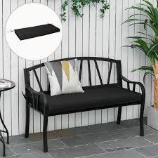 outsunny garden bench cushion 2 seater