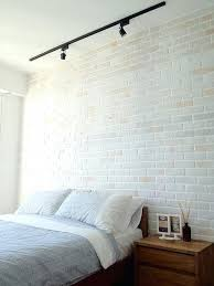 track lighting for bedroom. Wonderful Track Lighting Bedroom Ideas White Brick Wall To Change Your Room Look Great Feature Colors For