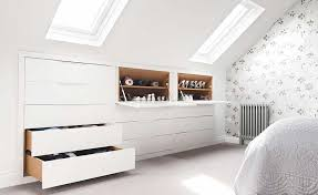 barbara genda under eaves bedroom storage for shoes and clothing