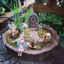 Creative Fairy Garden Design Idea For Inspiring Exterior Patio And  Landscape Arrangement: Magical Fairy Garden