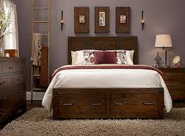 king bed with drawers. King Bedroom Set W/ Storage - Rustic Pine | Raymour \u0026 Flanigan Bed With Drawers L