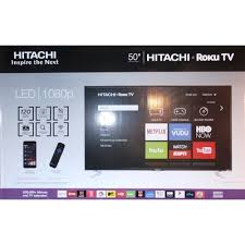 hitachi roku tv. 50\u201d hitachi roku led hd tv tv