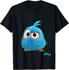 Angry Birds Blue Curious Hatchling offizielles Merchandise T-Shirt :  Amazon.de: Bekleidung