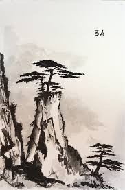 sumi e ink painting my latest sumie ink painting ron frazier flickr