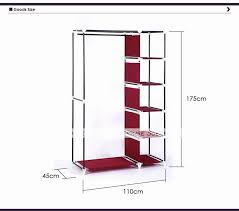 house scenery bedroom simple steel frame folding cabinet portable wardrobe hanging fabric wardrobe closet clothes storage locker