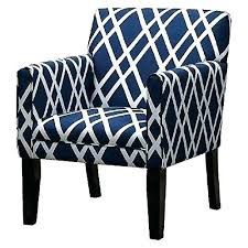Blue Pattern Accent Chair Beauteous Patterned Accent Chairs With Arms Aaecom
