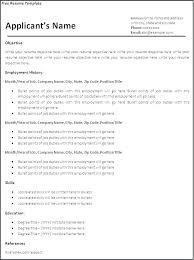 Printable Resume Template Resume Blank Templates Blank Basic Resume Template Blank Resume